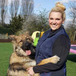 Dog day care staff Abbie